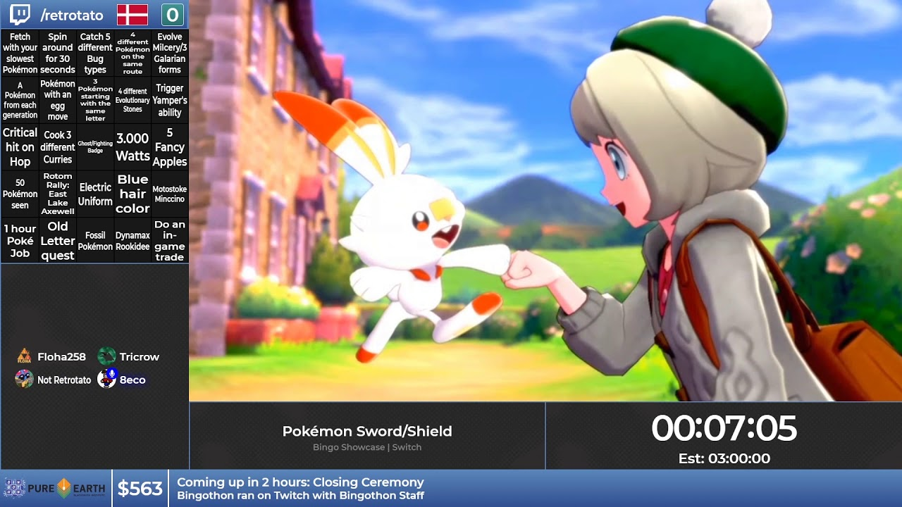 Bingothon Winter 2019: Pokémon Sword/Shield - Bingo Showcase (Blackout) by Retrotato